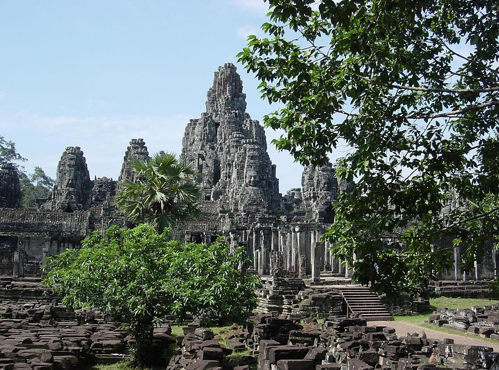 The Bayon at Angkor Wat, Cambodia, late twelfth or early thirteenth century. Source: Wikimedia