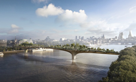 London's proposed Garden Bridge. Image by Arup - source Wikimedia.