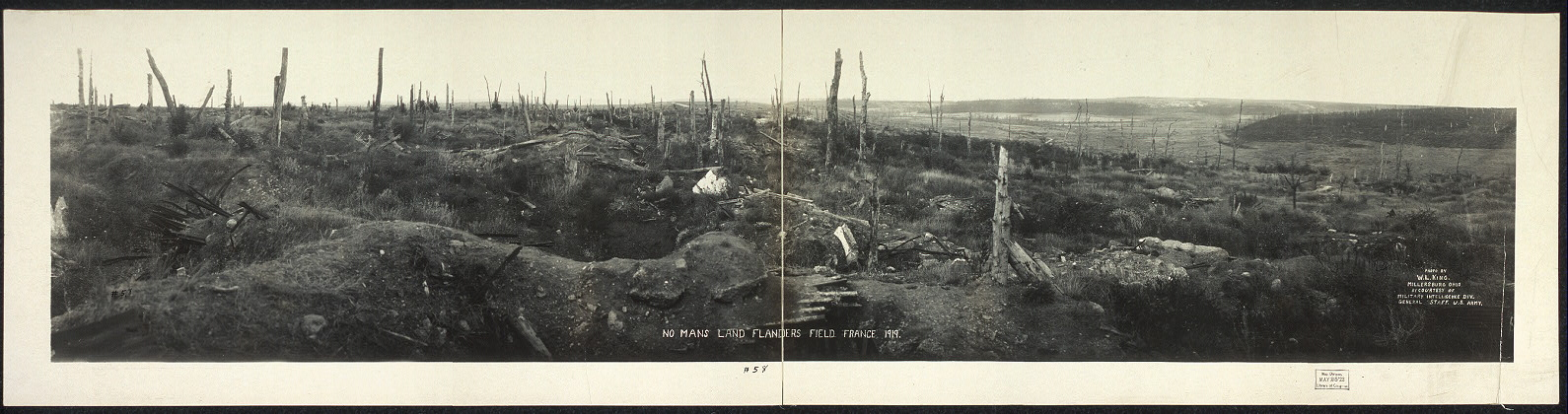 No Man's Land, Flanders, 1919.  Photo by W. L. King, Millersberg, Ohio; by courtesy of Military Intelligence Div., General Staff, U.S. Army.