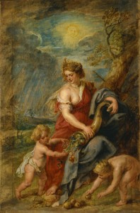Peter Paul Rubens, Abundantia, c. 1630 [Public domain or Public domain], via Wikimedia Commons