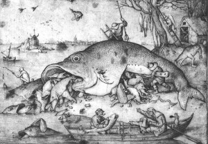 Pieter Bruegel the Elder's 'Big Fish Eat Little Fish'. In an increasingly predatory political world, we need professions more than ever.